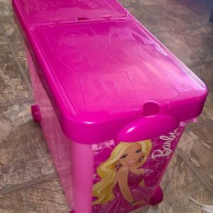 Barbie rolling storage container